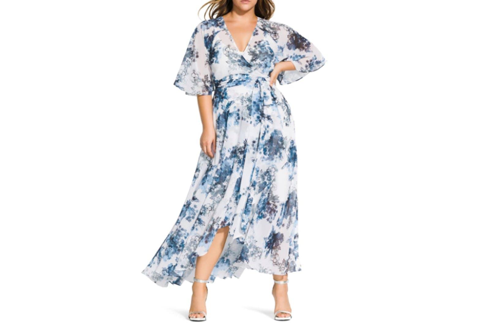 dresses for big boobs floral wrap dress