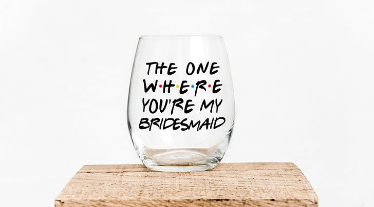 These 'Friends'-Themed Wine Glasses Are a Bachelorette Party Must-Have