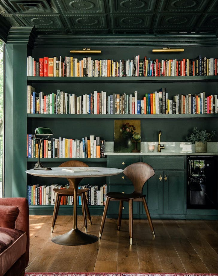 joanna gaines library ceilings