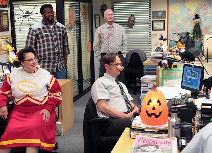 the office halloween episodes dwight pig nose
