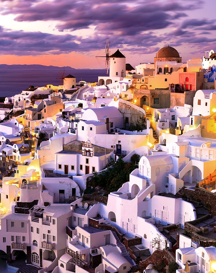 1. sunset in oia on santorini