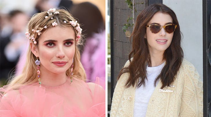 Emma Roberts's Hair Team Reveals How They Took Her from Blonde to Brunette Without Ruining Her Locks