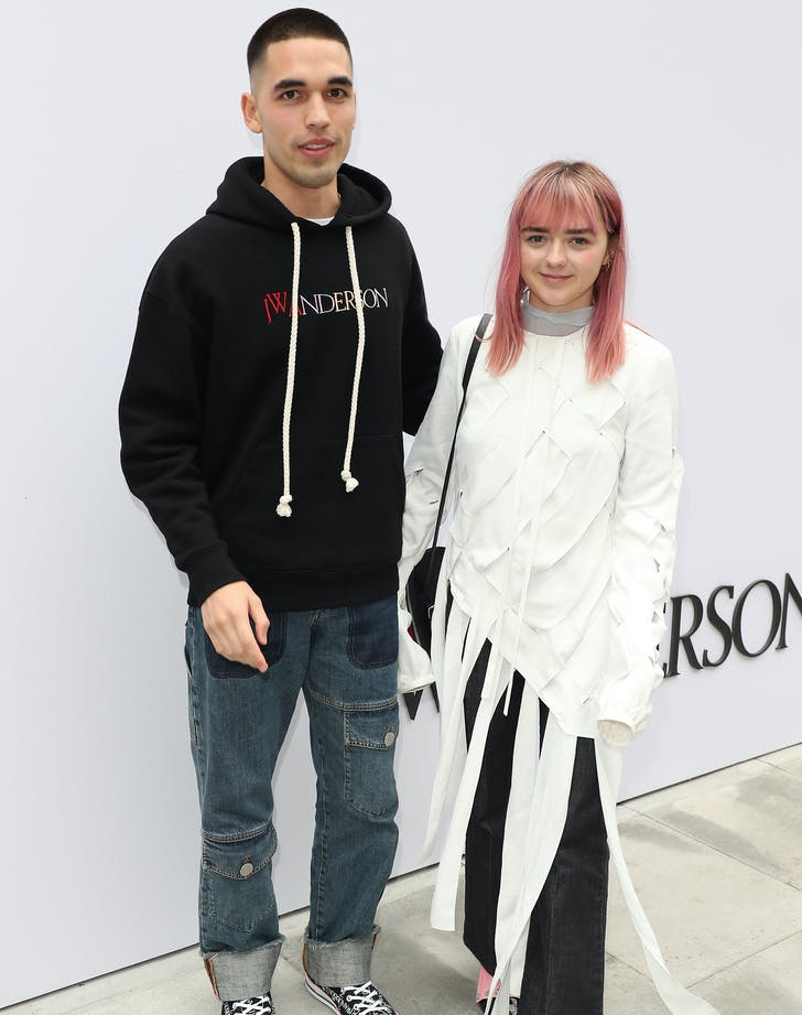 Maisie Williams Makes Rare Appearance with Rumored Boyfriend at London Fashion Week