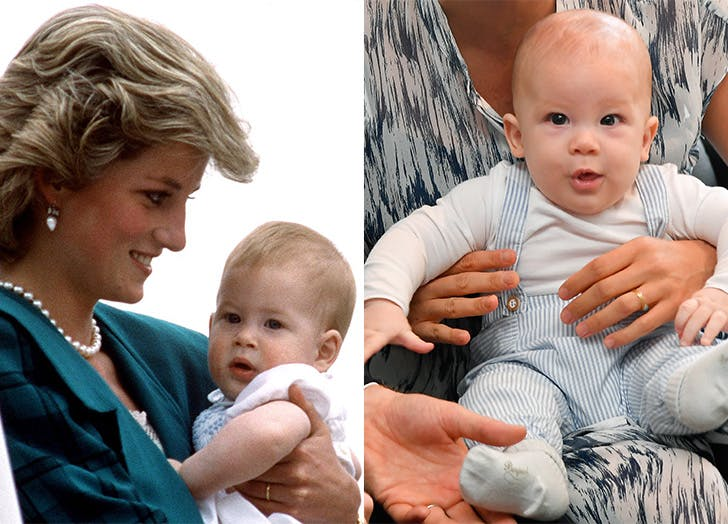 Prince Harry and Baby Archie side by side