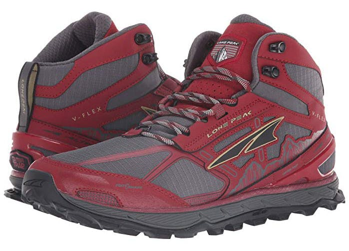 cute hiking boots red
