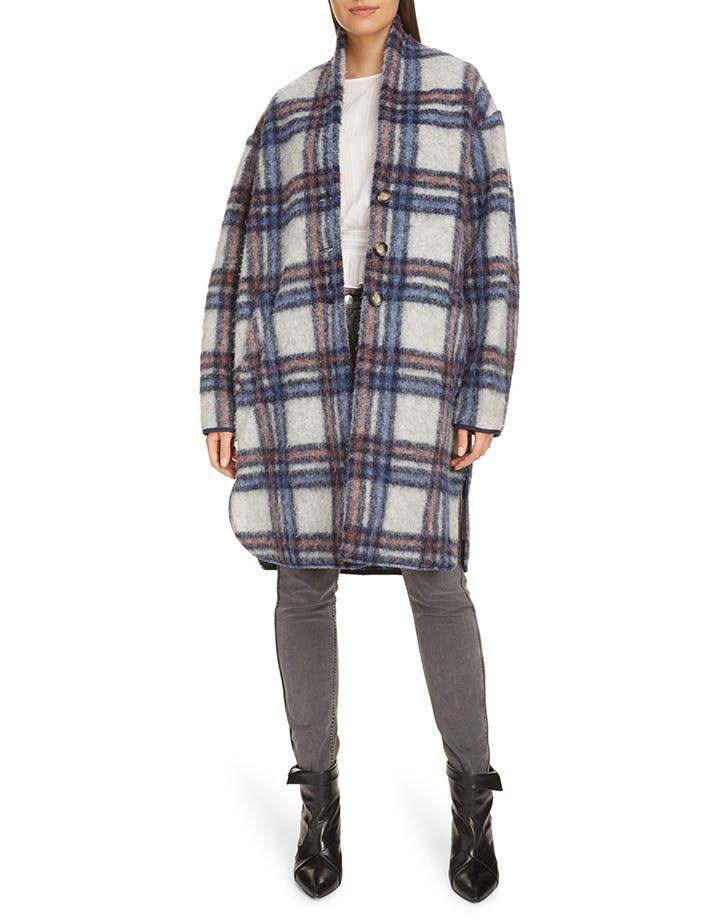 etoile isabel marant plaid coat