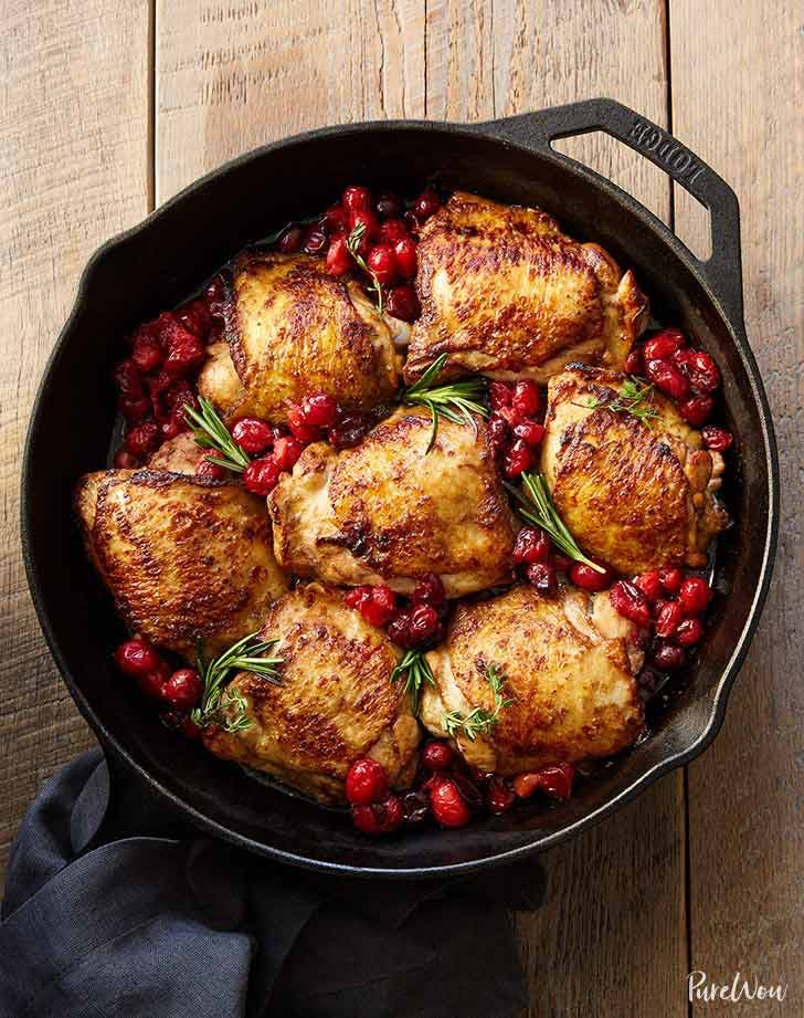 fall chicken recipes cranberry balsamic roast chicken recipe