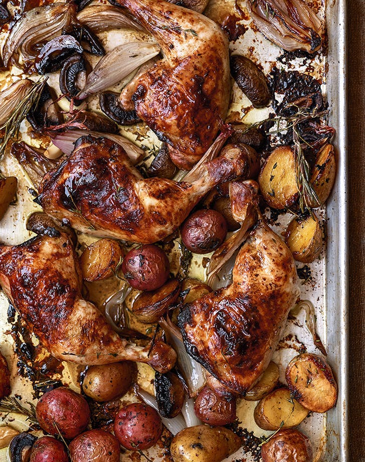 fall chicken recipes dorie greenspan sheet pan balsamic chicken recipe