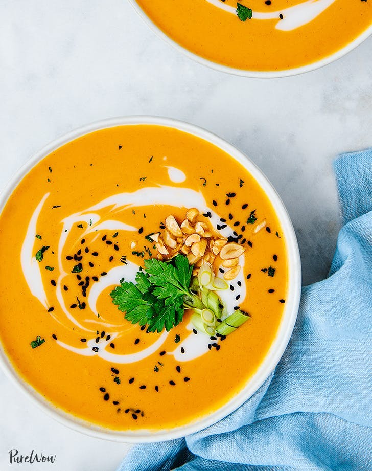 fall soup recipes instant pot spicy thai butternut squash soup recipe