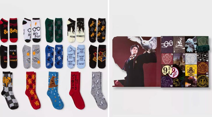 Golden Snitches! This New Advent Calendar Has 15 Days of 'Harry Potter' Socks