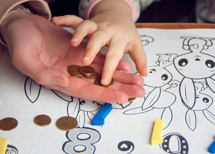 how to teach kids about money toddler counting change
