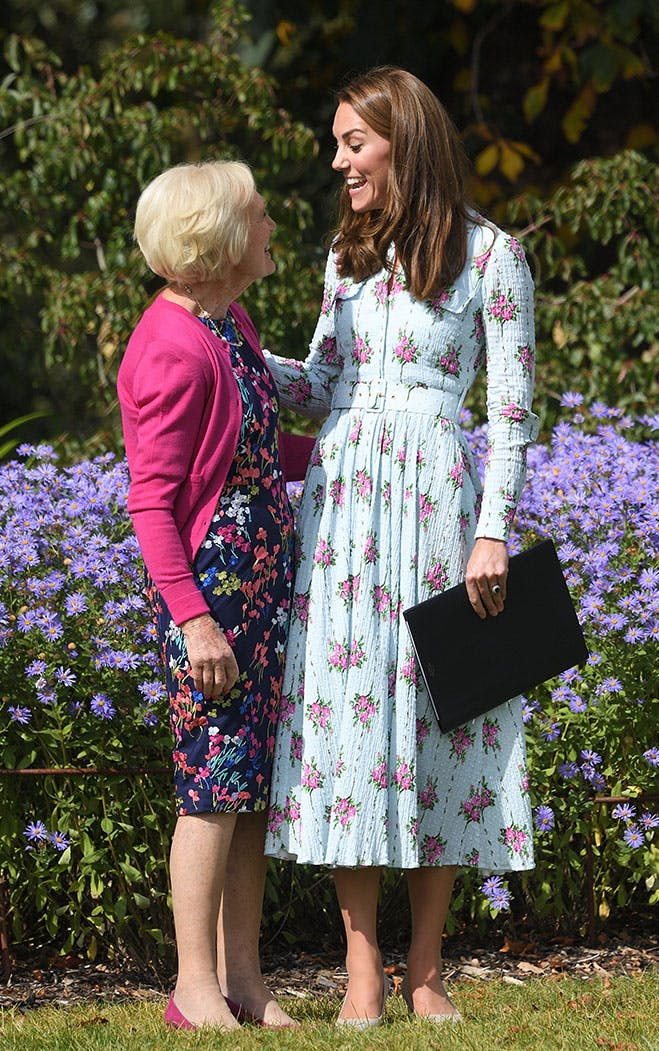 Kate Middleton and Mary Berry Look Like BFFs Riding a Tractor Trailer and Hanging Out in Kate's New Garden