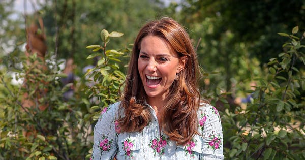 Kate Middleton Wore $10 Earrings with Her Stunning Floral Midi Dress by Emilia Wickstead