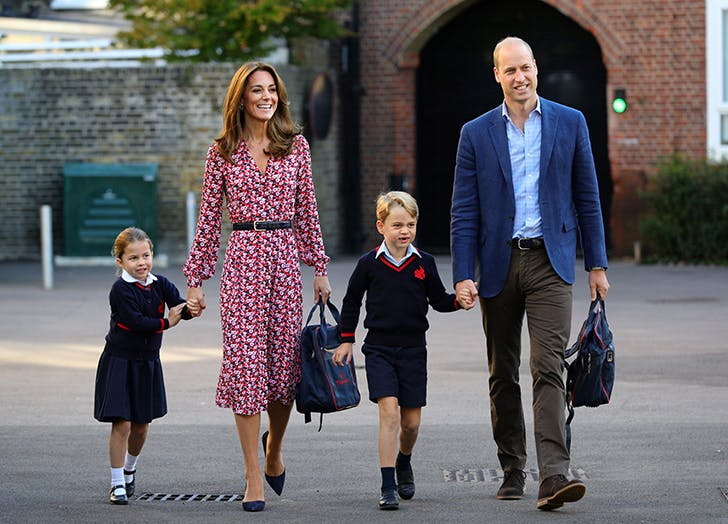 kate middleton william george and charlotte first day of school