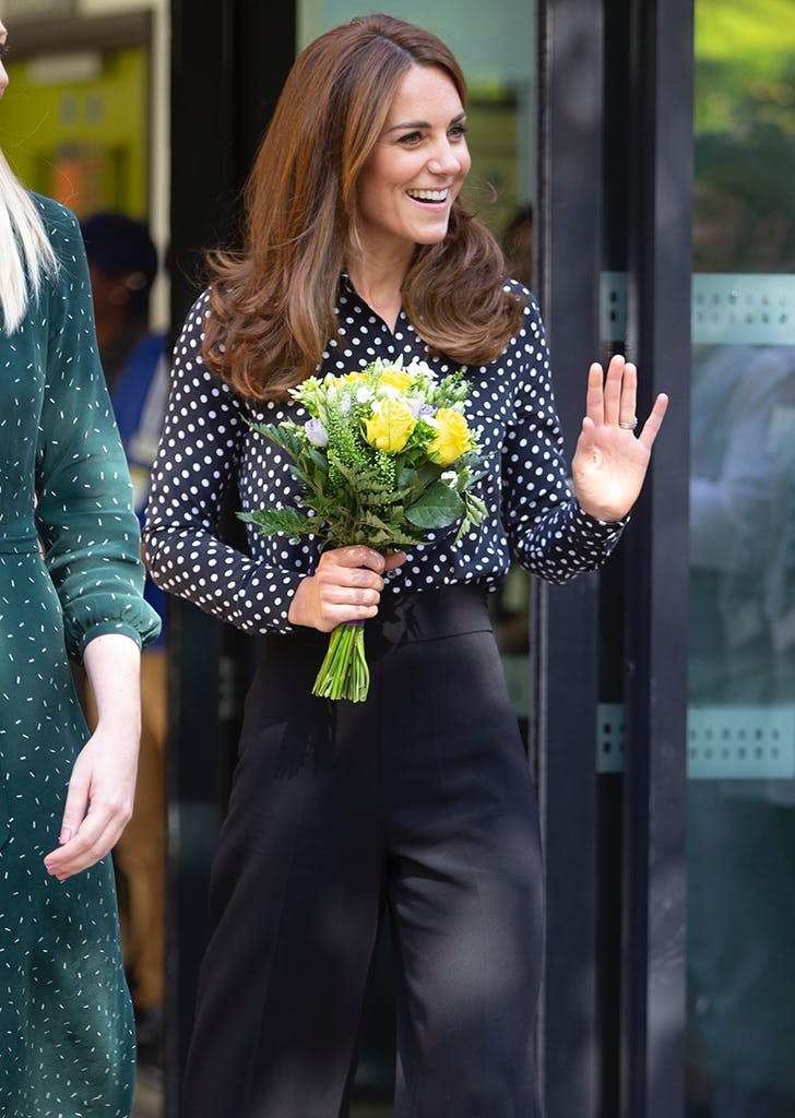 kate middleton polka dot shirt