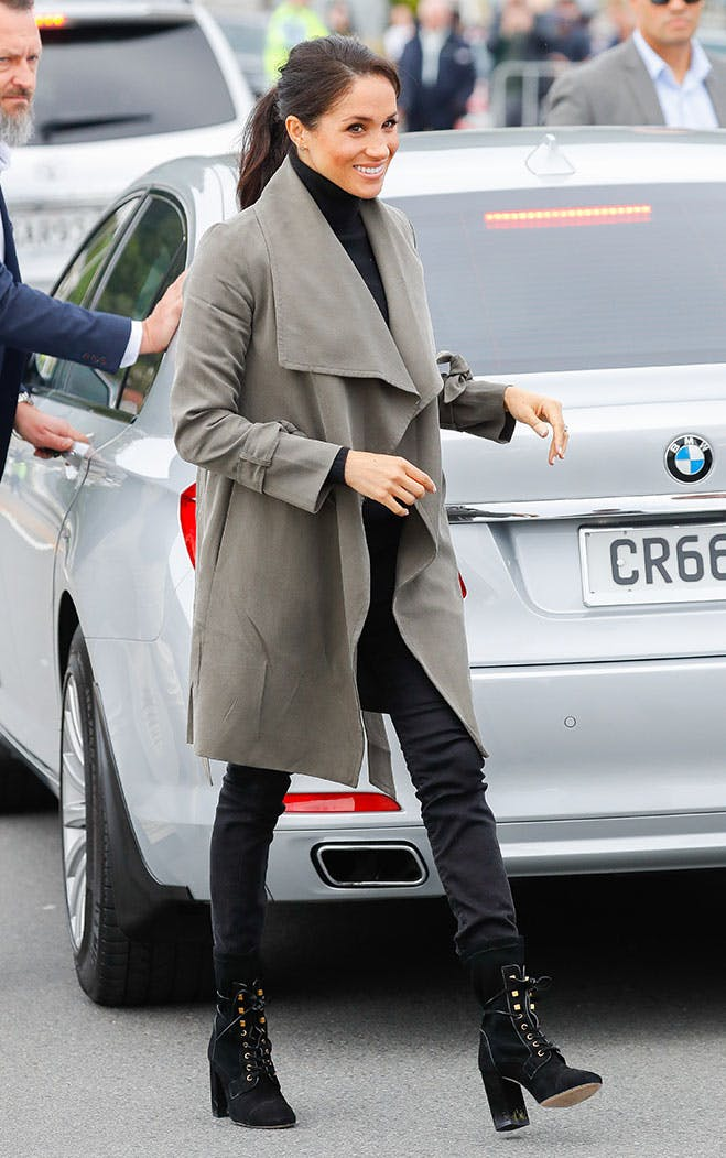 meghan markle lace up boots