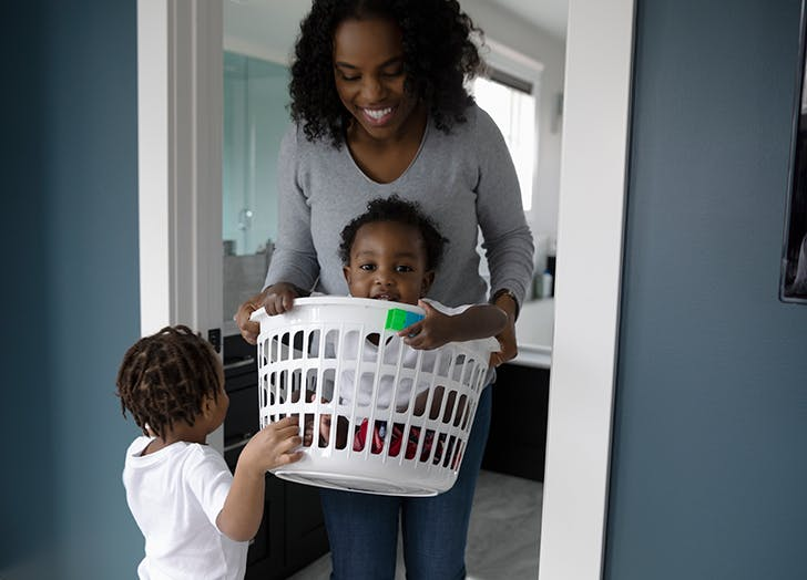This Is Hands Down the Best Way to Do Laundry If You've Got Kids