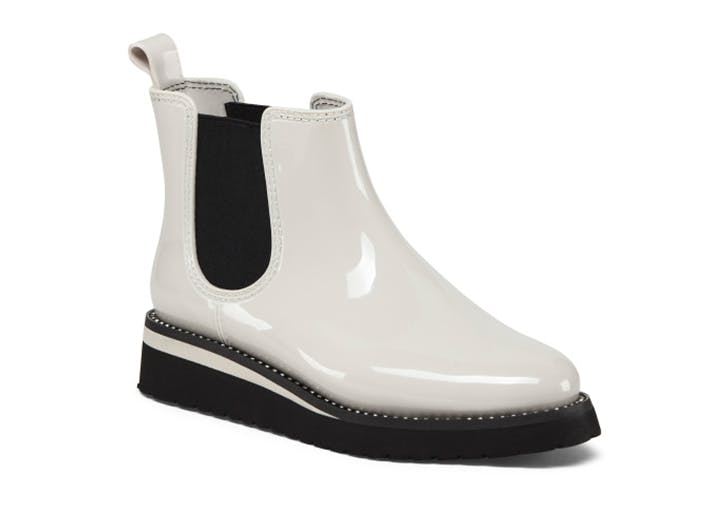 naturalizer waterproof white chelsea rain boot