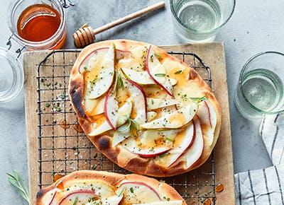 pear brie rosemary flatbreads recipe 400