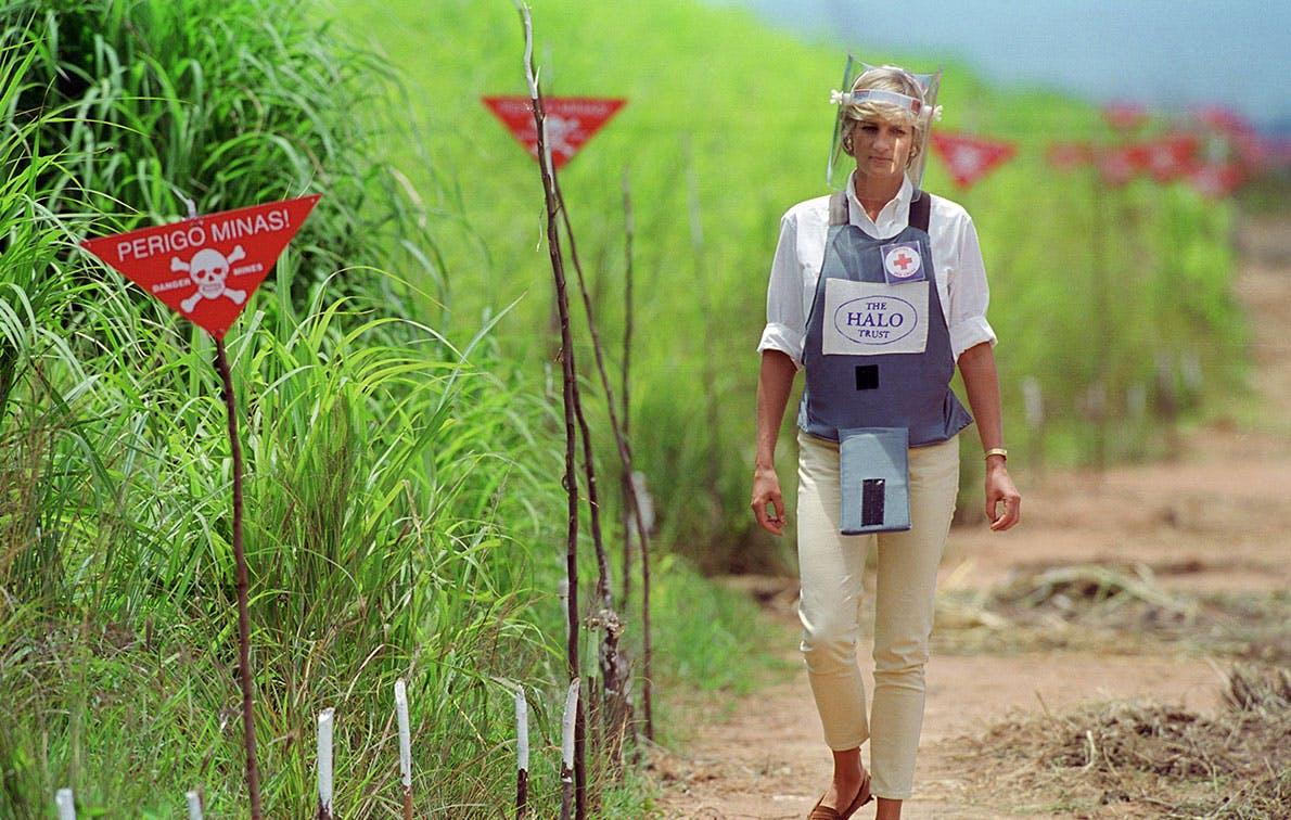 princess diana landmines angola