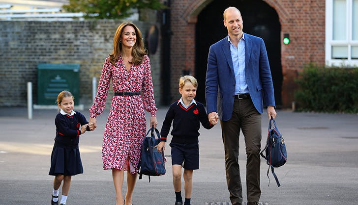 princess charlotte prince george first day of school