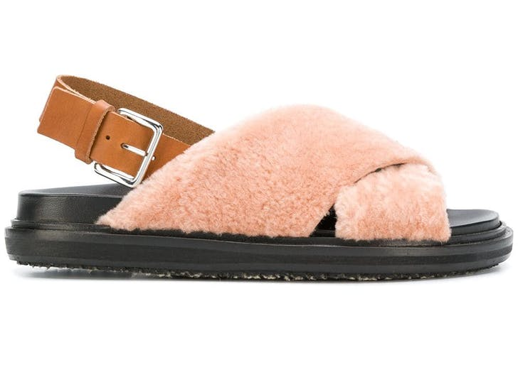 shearling sandals marni