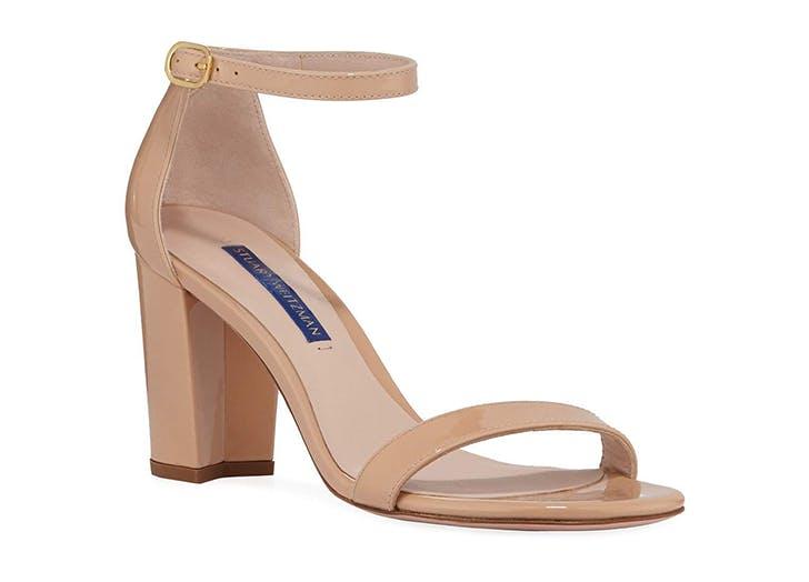 stuart weitzman ankle strap open toe heels