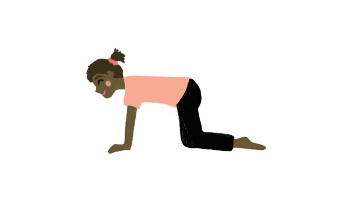 yoga poses for kids tabletop pose