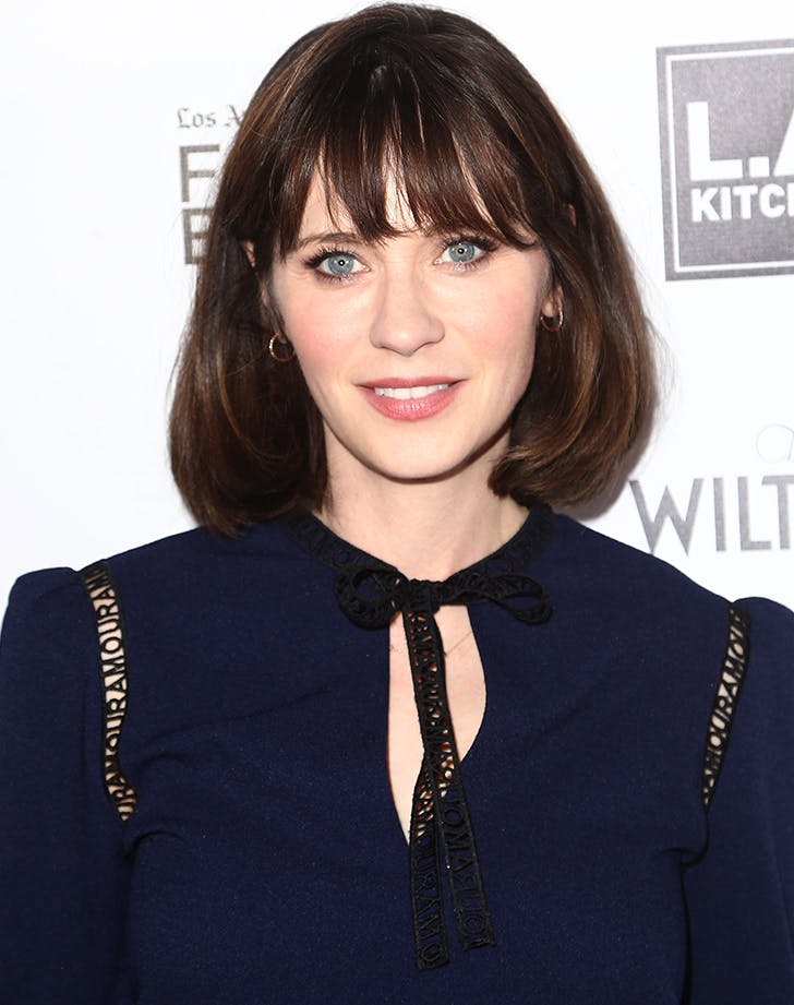 Most Flattering Haircuts for Oval Faces Zooey Deschanel