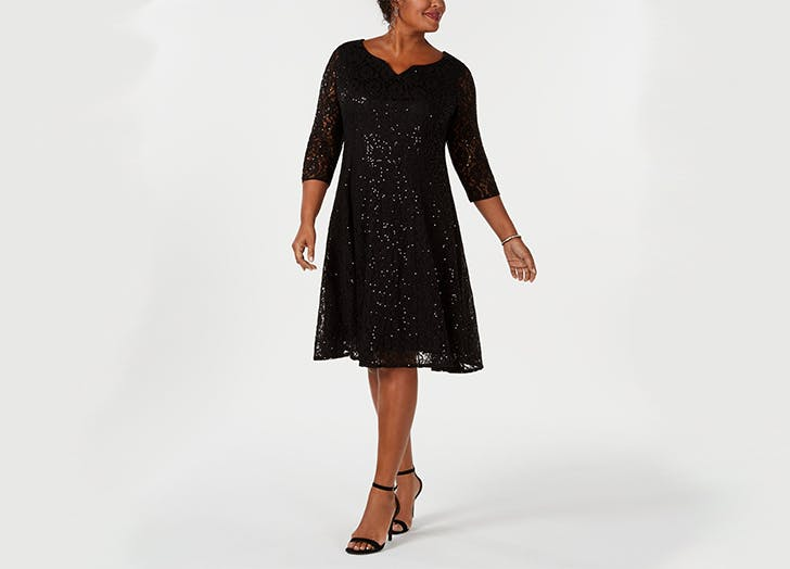 Sequined Lace Dress by SL Fashions