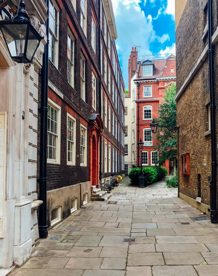View of one of the streets of London