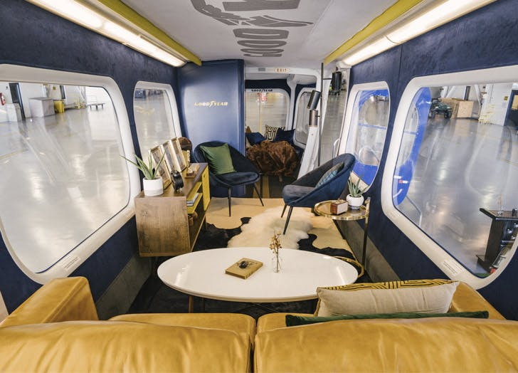 airbnb goodyear blimp interior1