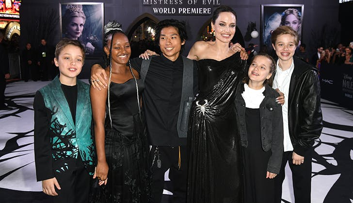 angelina jolie kids maleficent premiere