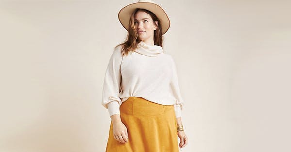 Anthropologie Is the (Not So) Secret Best Place to Buy Plus-Size Sweaters This Fall