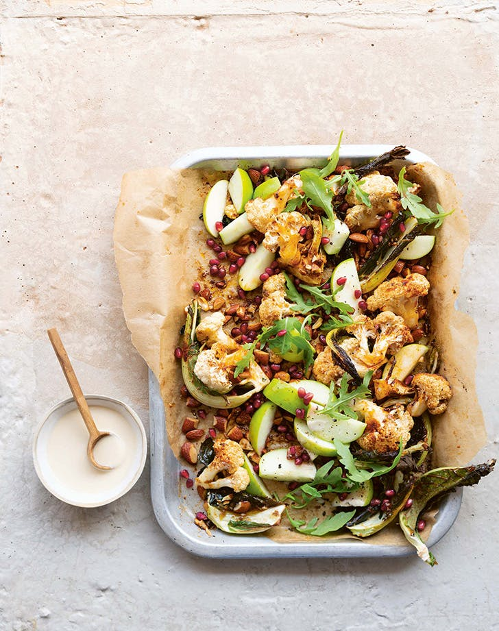 Cauliflower, Pomegranate and Apple Salad