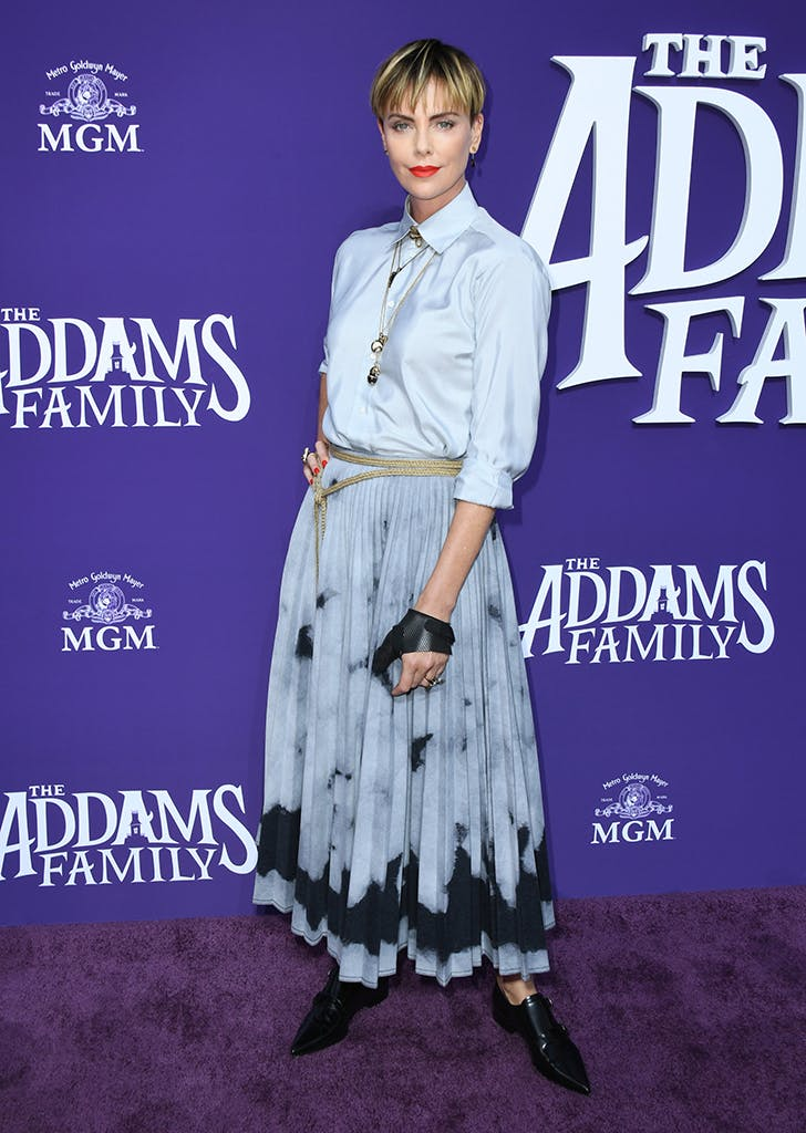 charlize theron addams family premiere