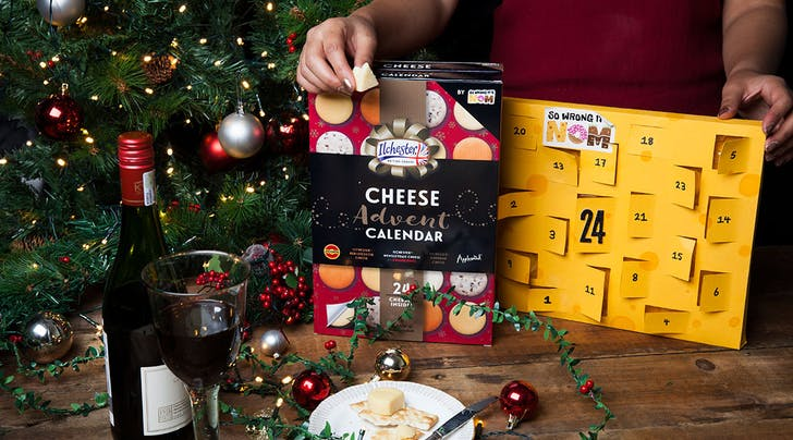 Halle-Gouda! Target Is Bringing Back Its Cheese Advent Calendar Filled with 24 Mini Cheese Wheels