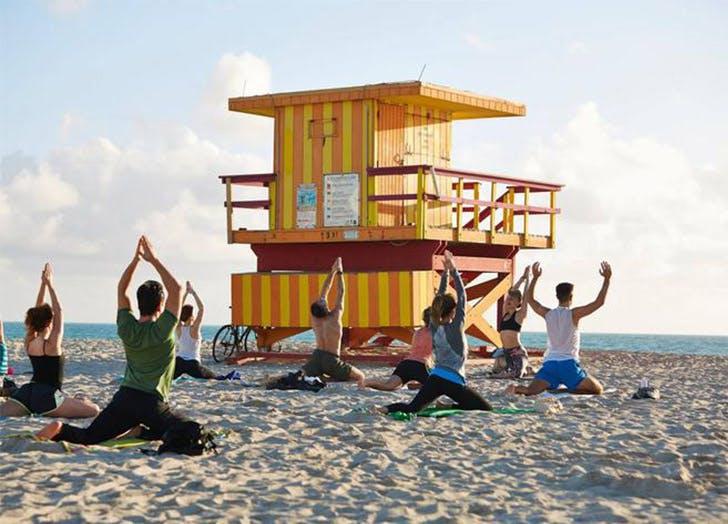 free yoga miami om
