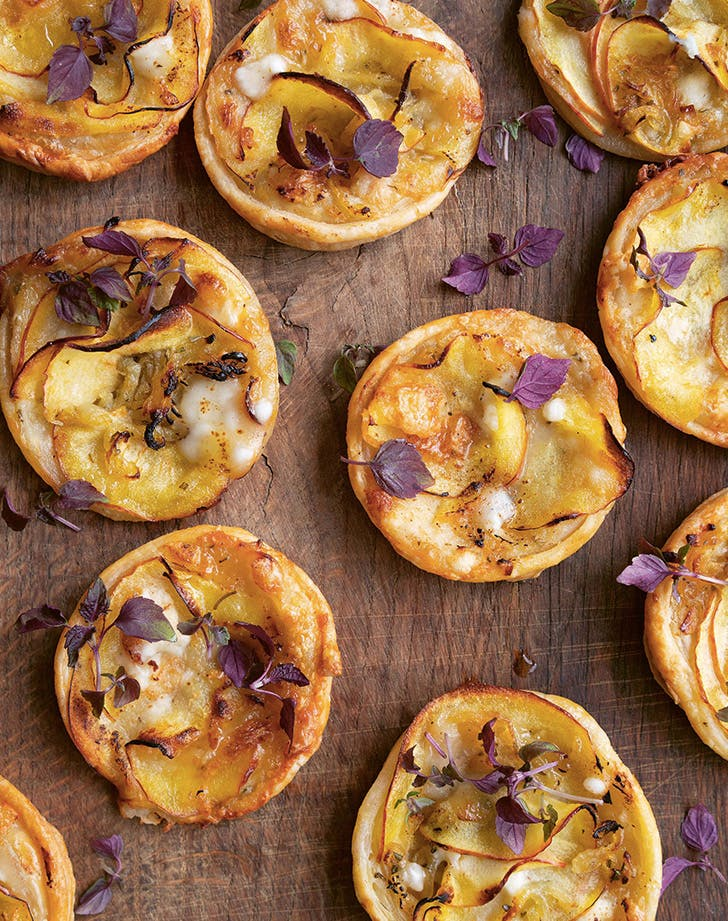 Goat Cheese, Apple and Honey Tarts