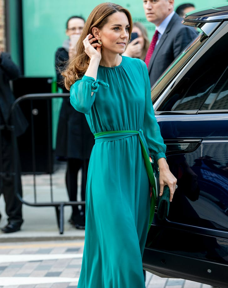 kate middleton green dress.l