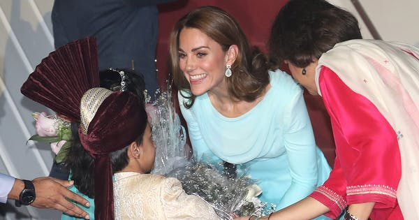 Kate Middleton Prince William Arrive in Pakistan for Royal Tour Kate Immediately Goes Into Parenting Mode