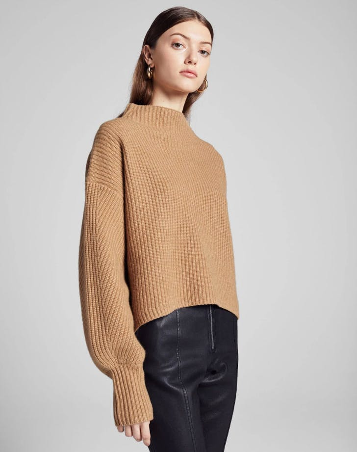 normcore luxe fishermans sweater