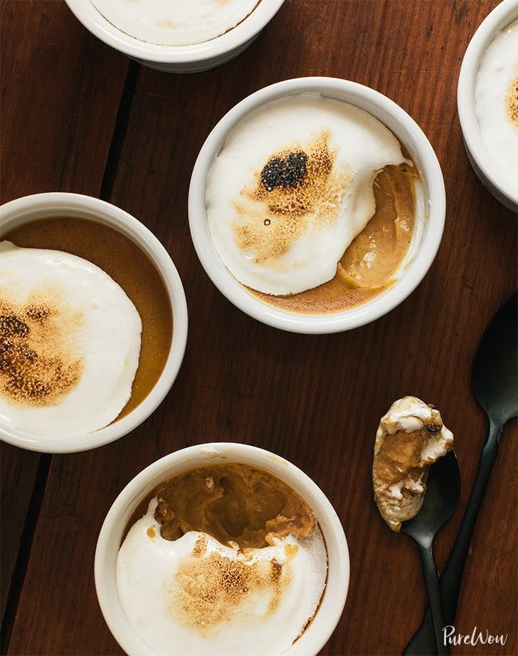 Sweet Potato Pots de Crème with Toasted Marshmallow