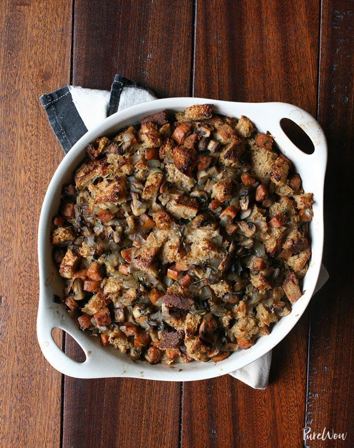 thanksgiving dressing Mushroom And Sausage Sourdough Stuffing Recipe