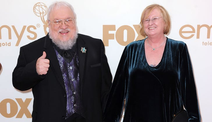 George R.R. martin wife parris mcbride frzer harrison getty images
