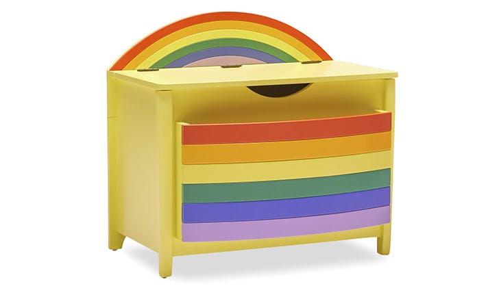 Rainbow Book Pocket and Toy Storage Bin