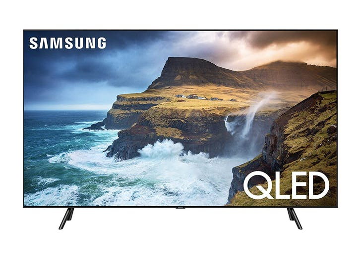 amazon Samsung Flat 55 Inch QLED 4K Q70 Series Ultra HD Smart TV with HDR and Alexa Compatibility
