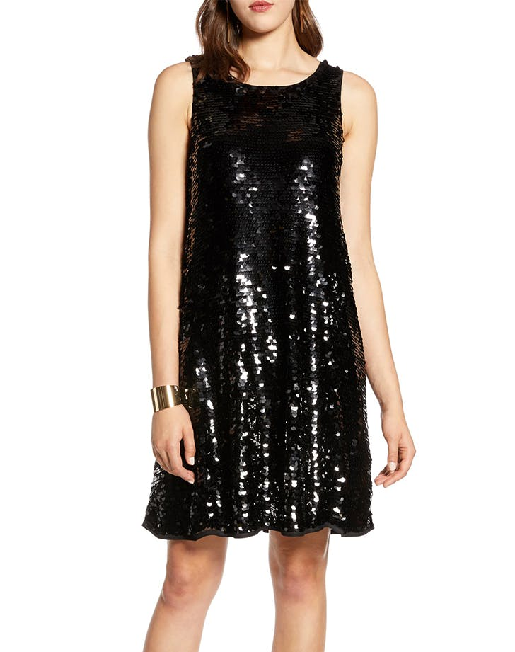 black sequin dress halogen
