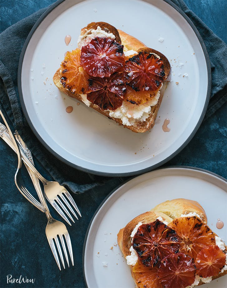 Broiled Citrus Ricotta Toast