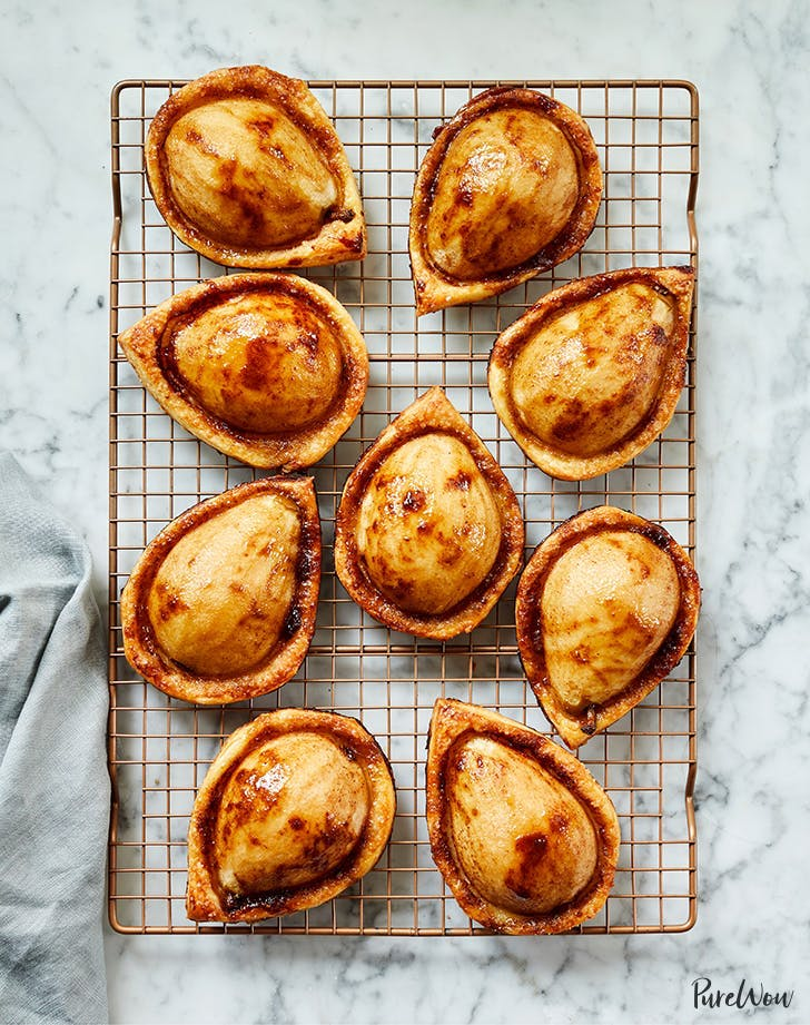 brown sugar pear puff pastries recipe